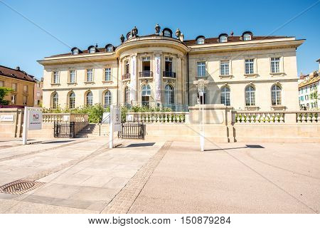 Geneva, Switzerland - June 23, 2016: Alimentarium food museum in Vevey near Geneva lake in Switzerland. It is the first museum in the world devoted exclusively to nutrition.