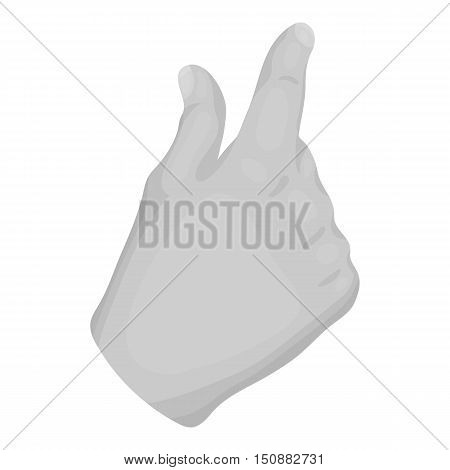 Zoom in gesture icon in monochrome style isolated on white background. Hand gestures symbol vector illustration.