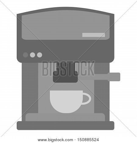 Coffeemaker icon in monochrome style isolated on white background. Kitchen symbol vector illustration.