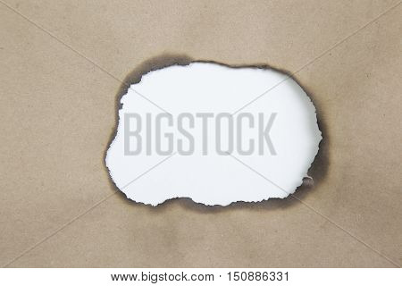 Blank torn paper with copy-space. torn Brown paper