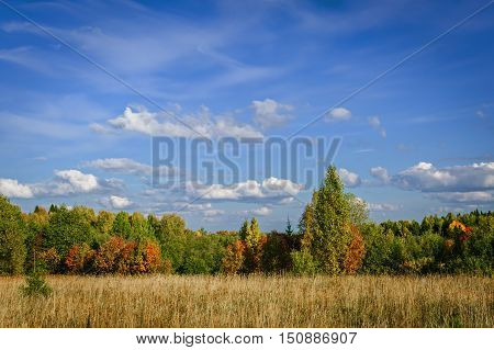 The beginning of autumn in the European part of Russia