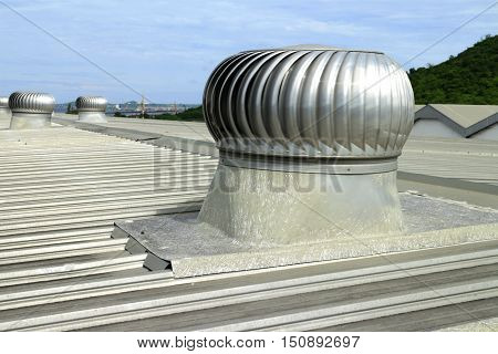 Natural wind force Roof Ventilator made of stainless steel fiberglass base
