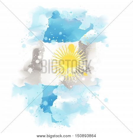map of Argentina vector design Illustration Watercolor paint