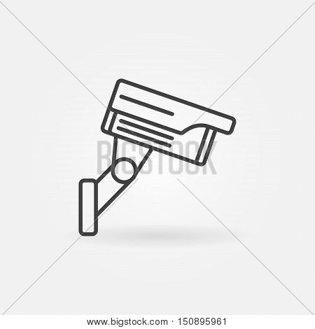 CCTV outline icon. Vector simple video surveillance camera in thin line style. CCTV camera concept sign