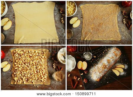 The process of making strudel