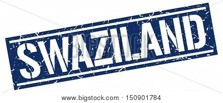 Swaziland. stamp. square grunge vintage isolated sign