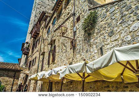 an old building in San Gimignano Italy