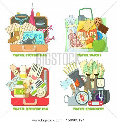 Travel concepts set. Flat illustration of 4 travel vector concept for web