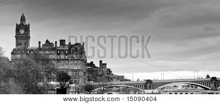 Panoramic View Of Edinburgh Skyline