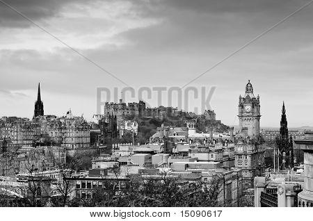 View Of The Edinburgh City Skyline, Scotland