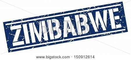 Zimbabwe. stamp. square grunge vintage isolated sign