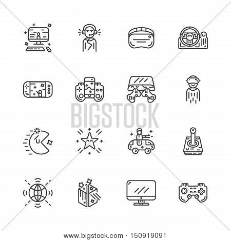 video game controller or gamepad line art icon for apps and websites eps 10