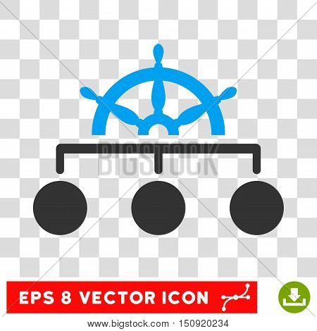Vector Rule EPS vector icon. Illustration style is flat iconic bicolor blue and gray symbol on a transparent background.