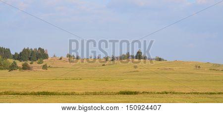 view of autumn landscape southern Bohemia, Czech Republic