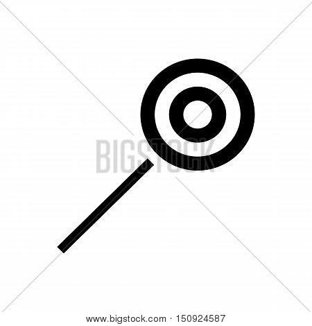 Halloween lollipop icon. Simple illustration of lollipop vector icon for web