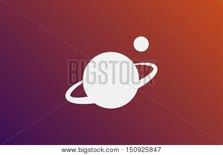Vector planet logo. Satellite design template. Planet logo. Satellite logo. Cosmos logo. Planet best logo. Planet concept logo. Planet web logo. Planet icon. Planet app icon. Science logo. Planet logo