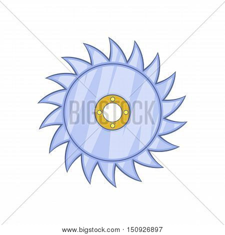 Circular saw blade icon. Cartoon illustration of blade vector icon for web design