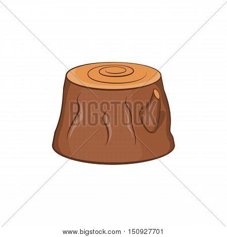Tree stump icon. Cartoon illustration of stump vector icon for web design