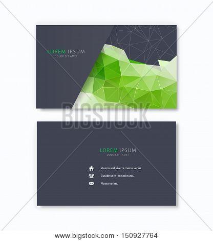Polygonal vector ceative business card Vector template.