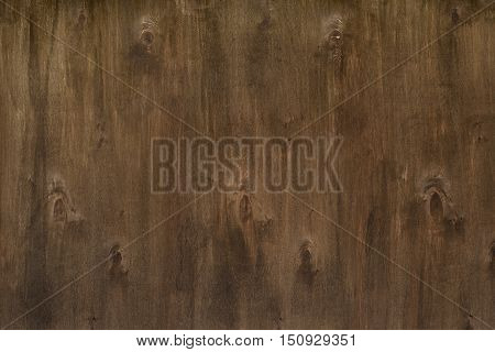 Brown old wooden natural texture with knots. Horizontal orientation