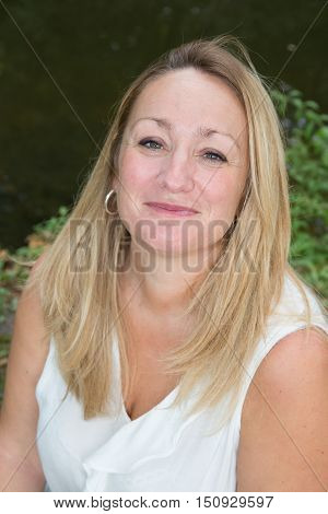 Confident And Beautiful Middle Aged Blond Woman