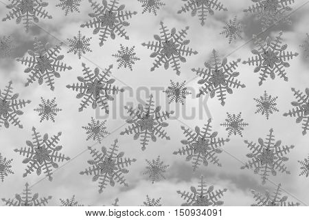 Gray Snowflake Tile Pattern Repeat Background that is seamless and repeats