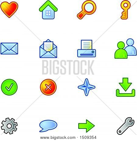 Colourful Basic Web Icons