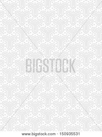Abstract minimalistic ethnic geometric vector seamless pattern on on a light background . EPS 10.