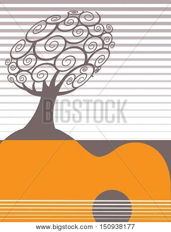Festive music poster template with space for your text