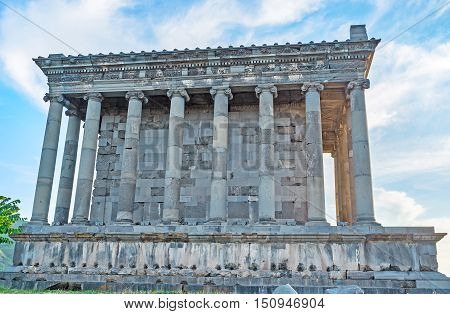 The Garni Temple is one of the most unique landmarks in country and the only known Greco-Roman colonnaded building in Armenia Kotayk Province.