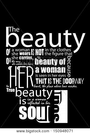 Fashion quote. Dark background. Fashion poster. Vector illustration