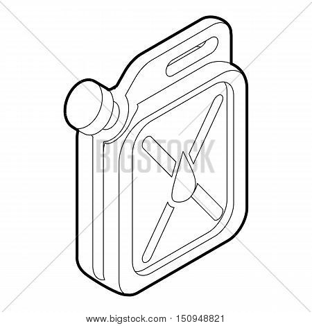 Jerrycan icon. Outline isometric illustration of jerrycan vector icon for web.