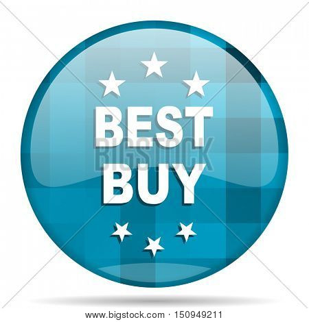 best buy blue round modern design internet icon on white background