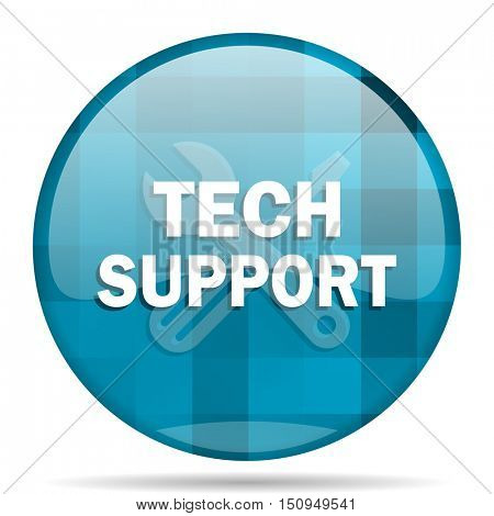 technical support blue round modern design internet icon on white background