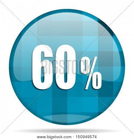 60 percent blue round modern design internet icon on white background
