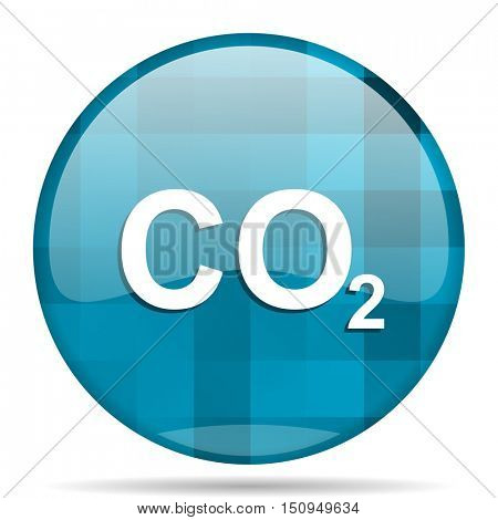carbon dioxide blue round modern design internet icon on white background
