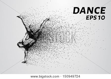 Dance of the particles. Breakdance consists of small circles.