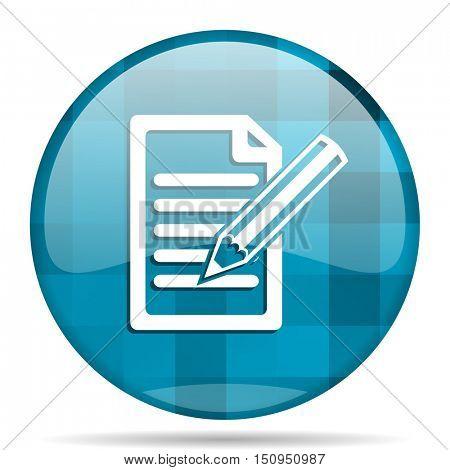 subscribe blue round modern design internet icon on white background