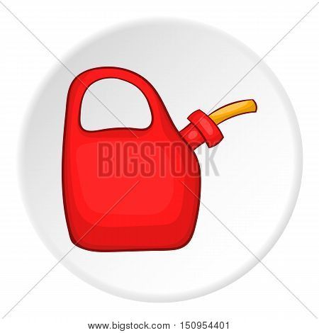 Plastic canister of gasoline icon. Cartoon illustration of plastic canister of gasoline vector icon for web
