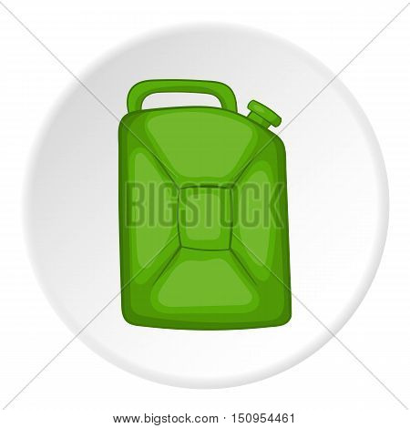 Flask for gasoline icon. Cartoon illustration of flask for gasoline vector icon for web