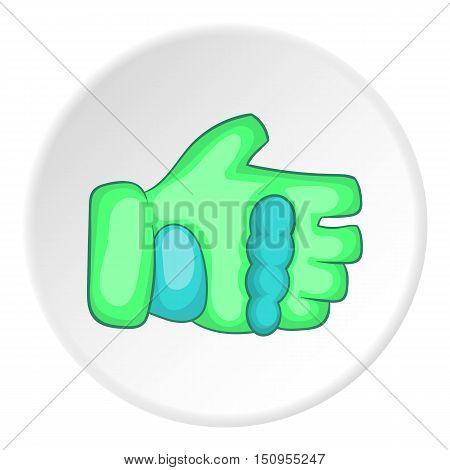 Glove icon. Cartoon illustration of glove vector icon for web