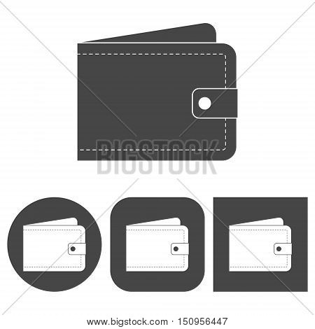 Wallet - vector icons set on white background