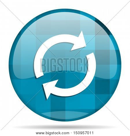 reload blue round modern design internet icon on white background