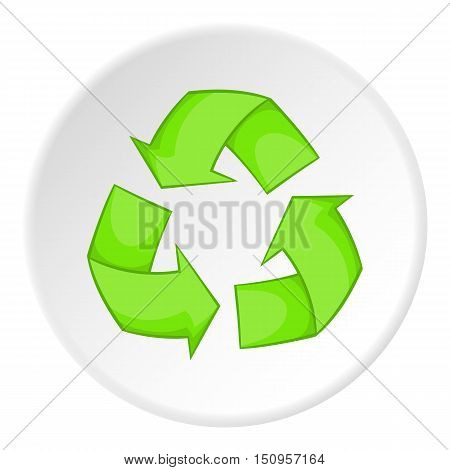 Recycling icon. Cartoon illustration of recycling vector icon for web