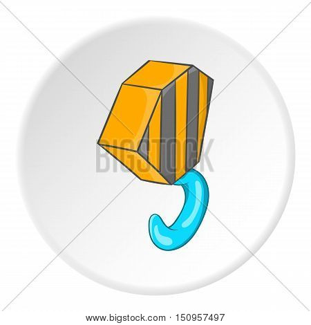 Hook from crane icon. Cartoon illustration of hook from crane vector icon for web