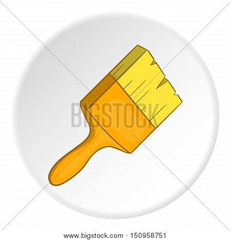 Paint brush icon. Cartoon illustration of paint brush vector icon for web