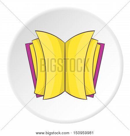 Open thick book icon. Cartoon illustration of open thick book vector icon for web