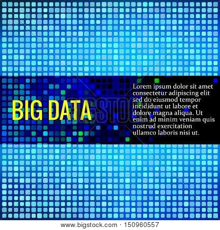 Abstract vector background for data theme. Big data analysis. Colored square matrix