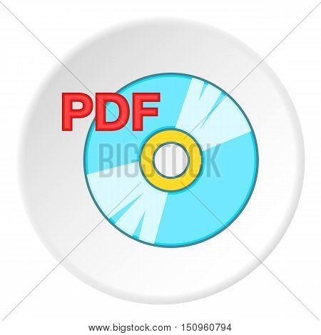 PDF book icon. Cartoon illustration of PDF book vector icon for web