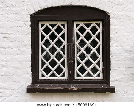 Diamond Shaped Panes Of Glass In Window